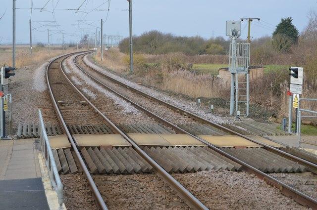 Fen Line north of Littleport Station