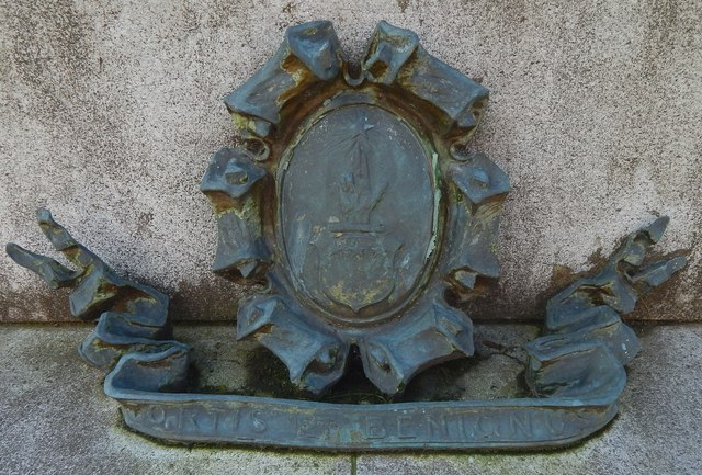 Statue of Peter Denny: armorial detail