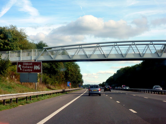Approaching Junction 13 on the M4