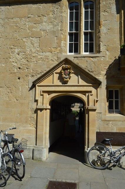 St Edmund Hall College entrance