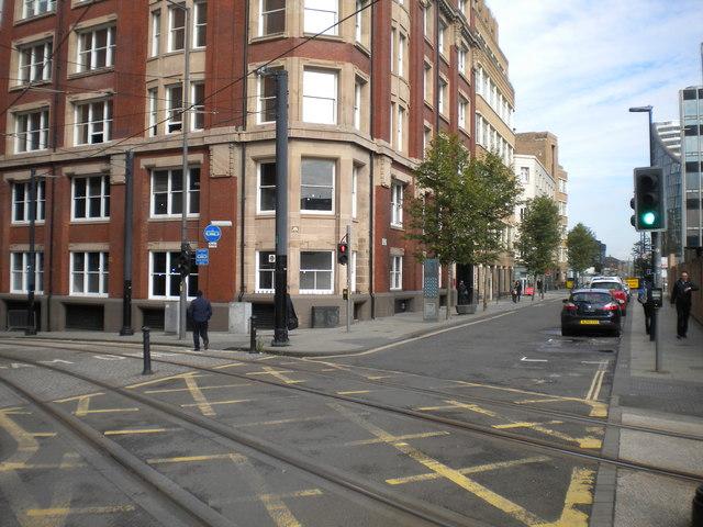 Junction of Dantzic Street and Balloon Street, Manchester