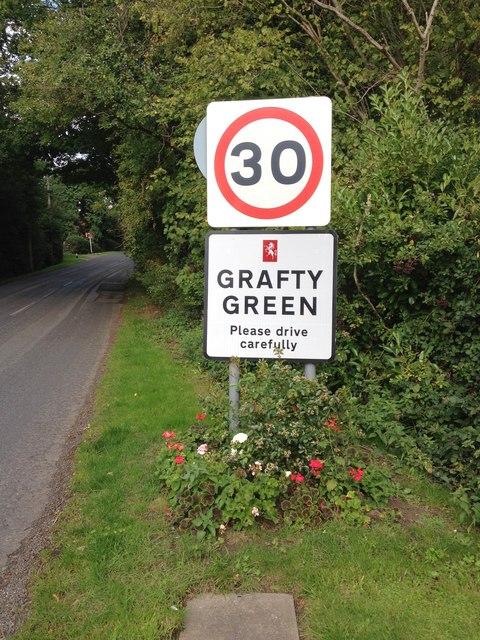 Grafty Green village sign