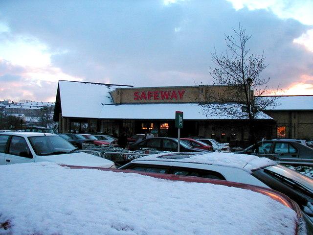 Safeway in the snow