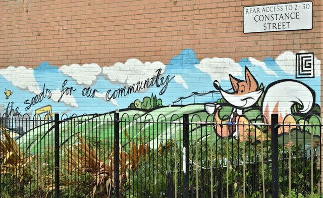 Street art, Constance Street, Belfast - September 2017(1)