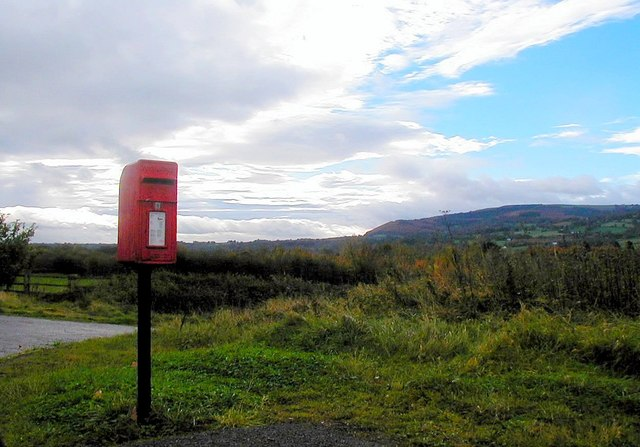Postbox near Great Hardwick