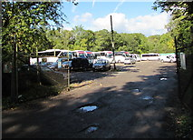 ST0881 : Old Station Yard, Creigiau by Jaggery