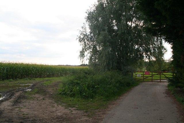 End of Holmes Road, Horsington Holmes