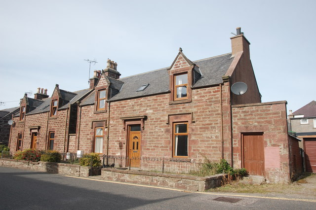 Red sandstone villas, Gladstone Terrace, Turriff
