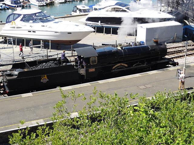 Steam Locomotive at Kingswear Station