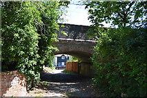 TL5234 : Railway bridge over footpath by N Chadwick