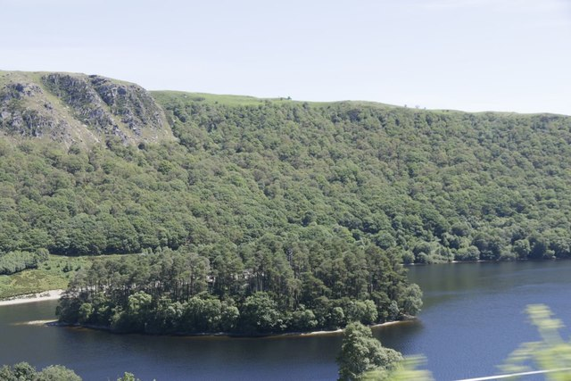 Island in the Penygarreg Reservoir