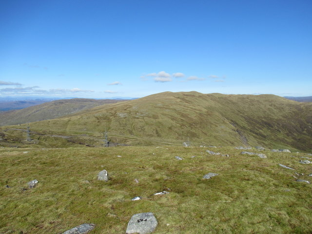 View north-west from cairn at 859m above Corrie Yairack on Speyside