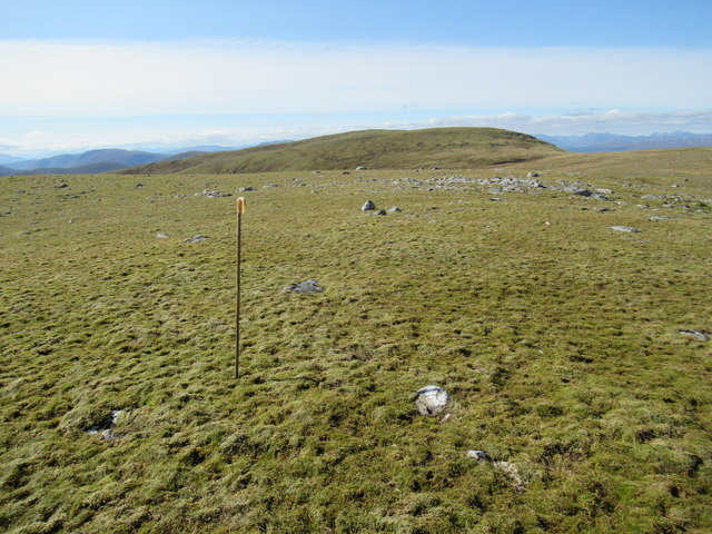 View west from cairn at 859m above Corrie Yairack on Speyside