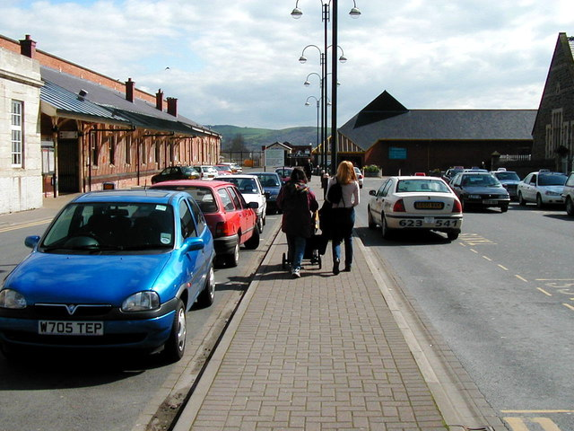 Aberystwyth station car park and taxi rank