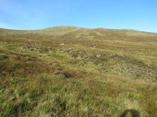 Leac nan Aighean from near Shesgnan Burn on Speyside