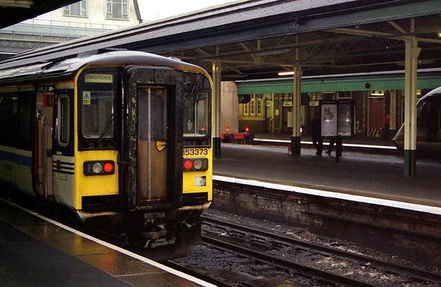 A class 153 single car unit at Swansea