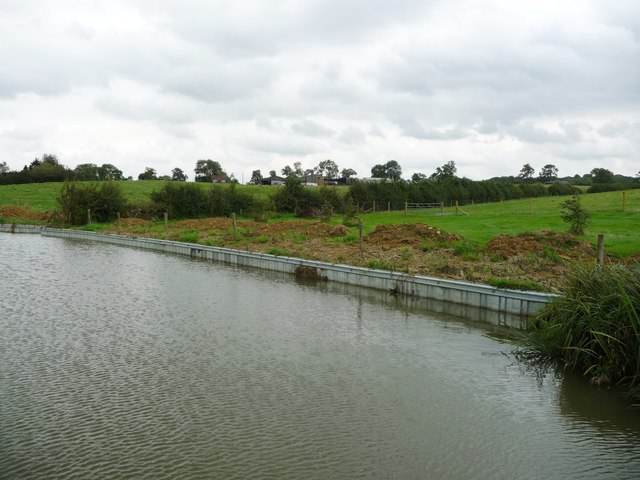 Repaired bank, Leicester section of the Grand Union Canal