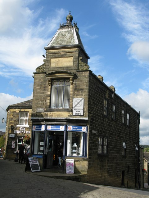 Tourist Information Centre and The Old White Lion, Haworth