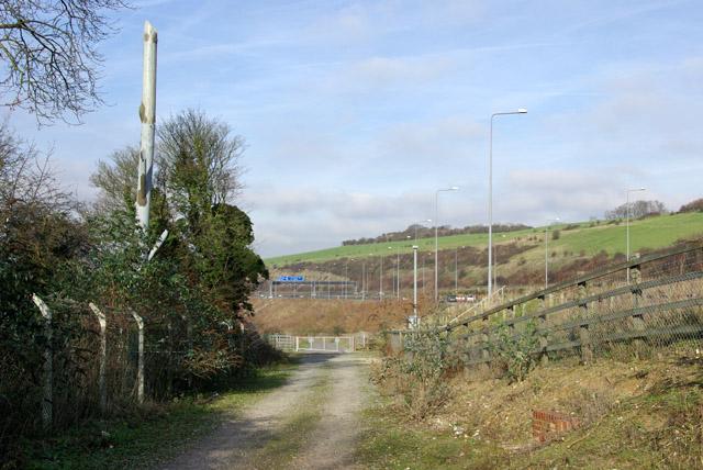 Bridleway towards Wouldham Road