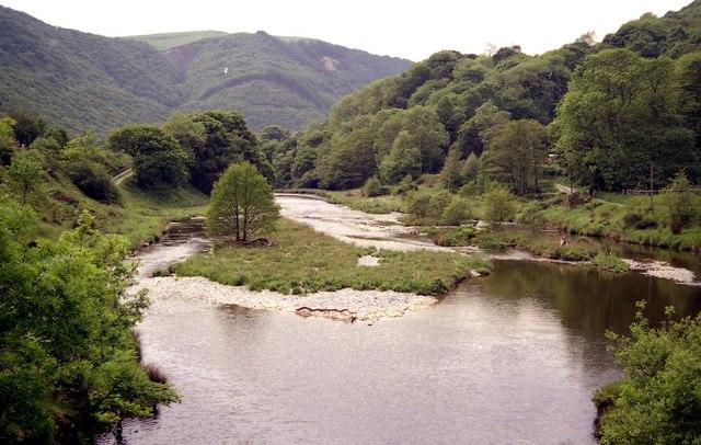 Afon Rheidol looking downstream