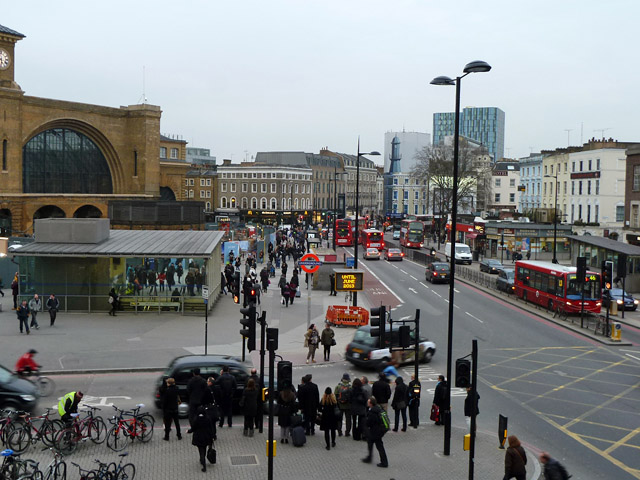 Euston Road by Kings Cross station