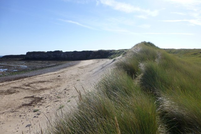 Looking along the dunes
