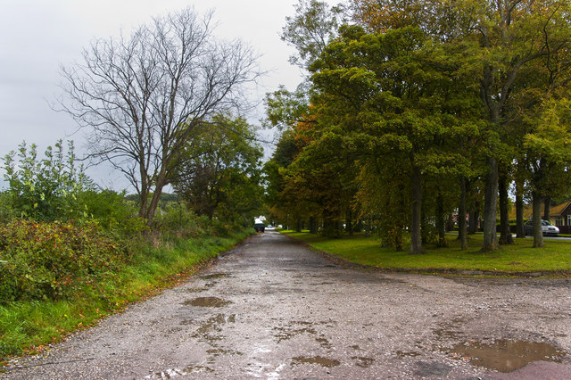 The old road is used as a lay-by by default
