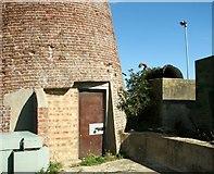 TG3504 : The Buckenham Ferry drainage pump (entrance) by Evelyn Simak