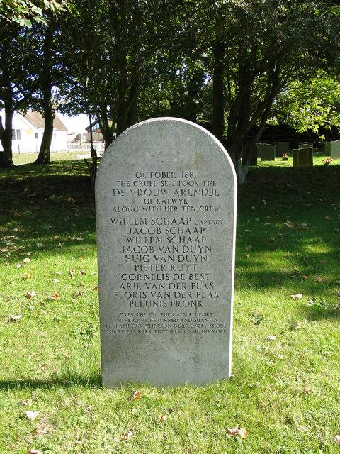 Grave of sailors from loss of De Vrouw Arendje, Oct.1881