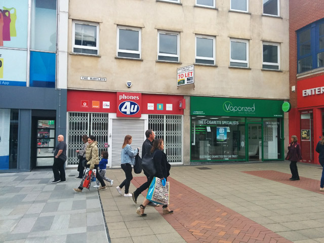 Phones4u (closed) and Vaporized, Crawley