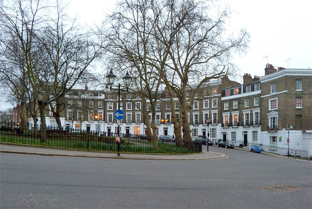 Houses on Percy Circus, WC1