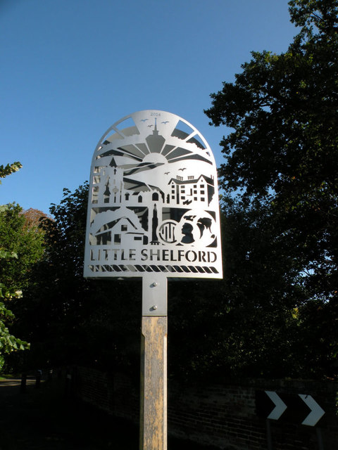 Little Shelford village sign