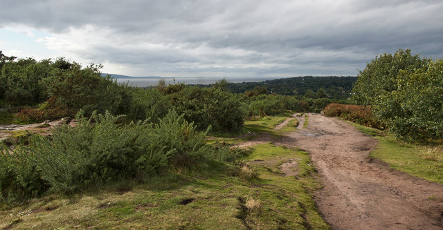 On Thurstaston Hill with a view of the mouth of the Dee Estuary