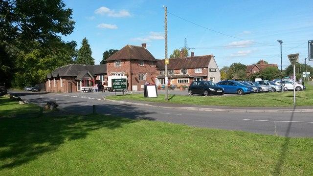 Corner of Old Salisbury Road, at the Vine Inn