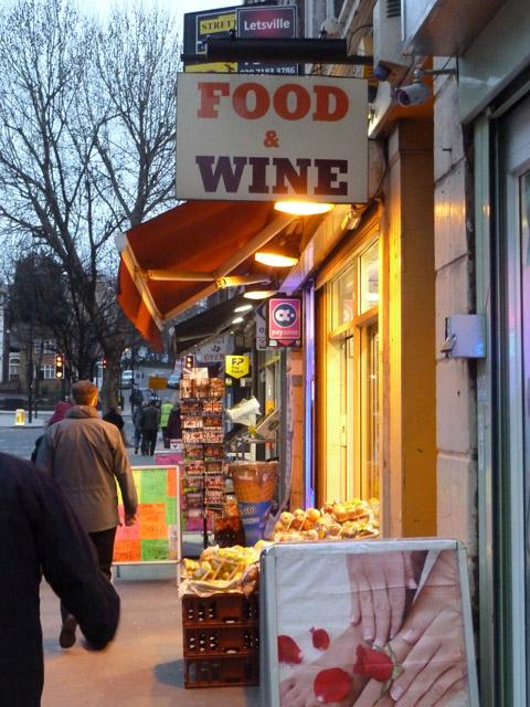 Evening shops, King's Cross Road, WC1