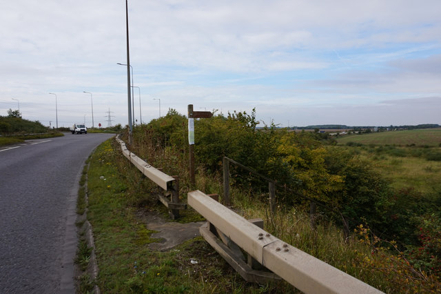 Fingerpost on the A1173