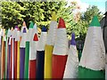SK6363 : Pencil fence in Center Parcs by Graham Hogg