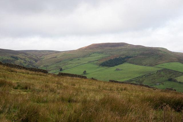 Moorland with broken wall