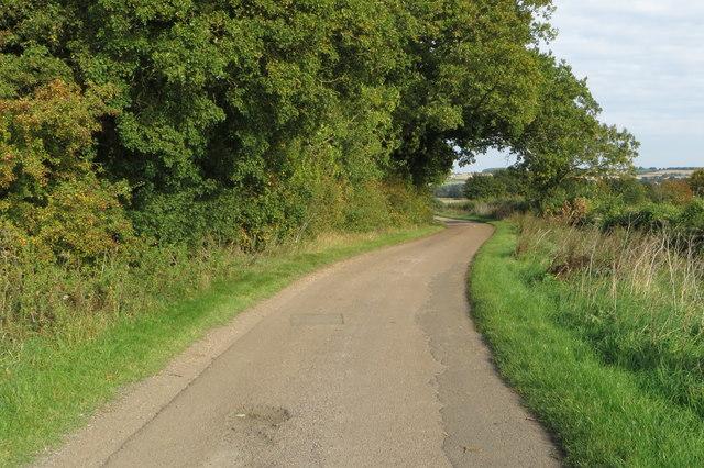 Private road into Harrold