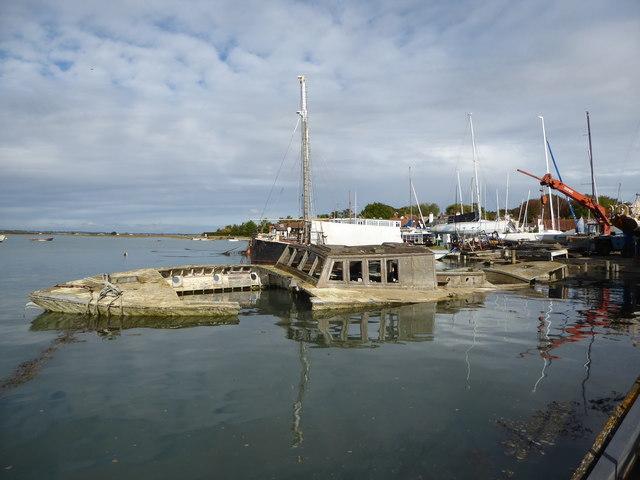 The wreck of the Nanaloa, West Mersea