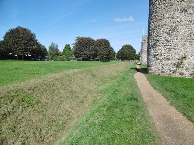 Portchester, moat