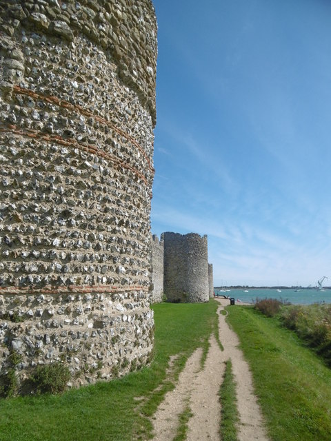 Portchester, wall and bastions