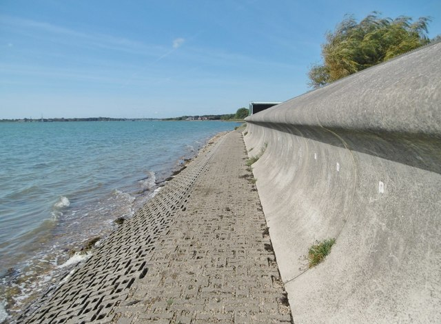 Portchester, sea wall