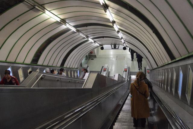 Escalator, Paddington Underground Station