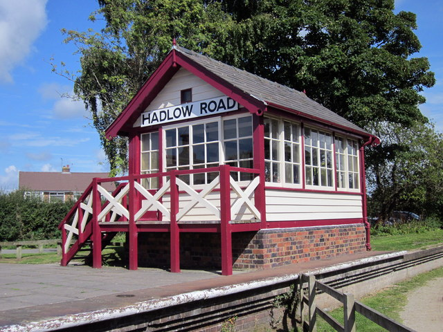 The signalbox at Hadlow Road railway station
