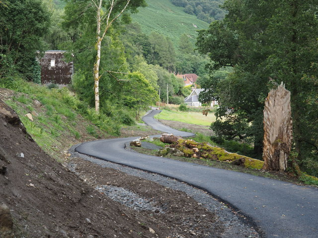 New extension to the railway path above St Fillans