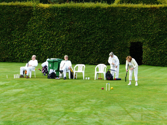 Croquet on the lawn, Levens Hall