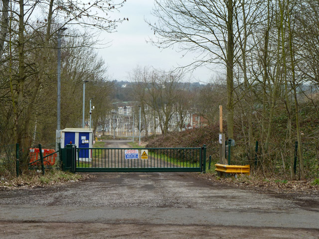 Entrance to electricity substation off Partingdale Lane