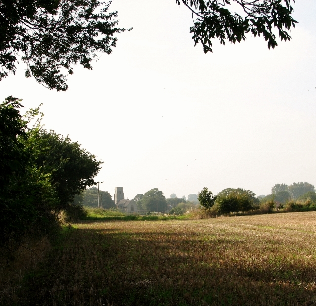 Stubble field north of Yarmouth Road