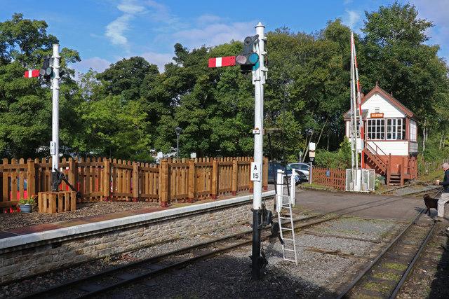 South Tynedale Railway - Alston signal box